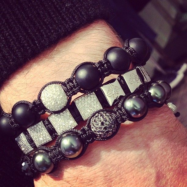 Shamballa Bracelets Men And Women Sizes Available White Black Diamonds Montaignemarket