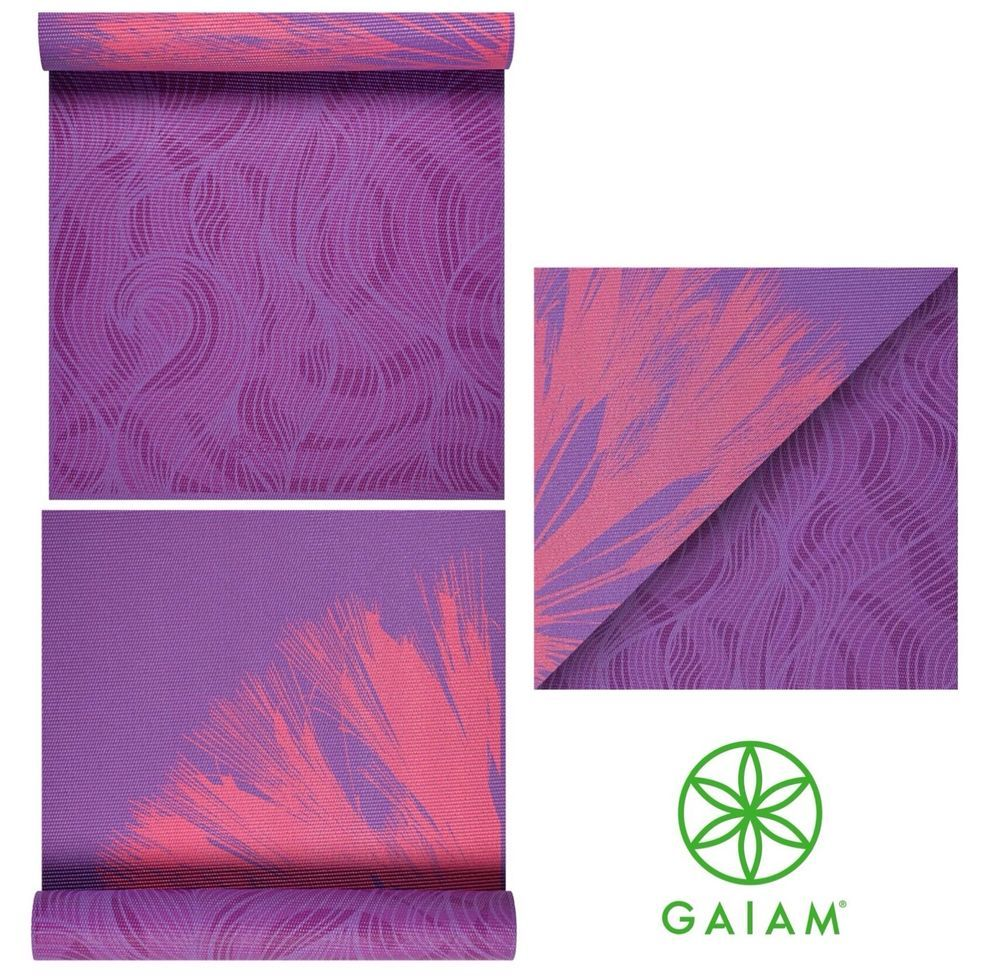 Gaiam Reversible 6mm Extra Thick Exercise Fitness Mat For All Types Of Yoga Ebay Mat Exercises Gaiam Types Of Yoga