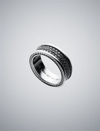 85mm Black Diamond Pave Ring by David Yurman I like this style for