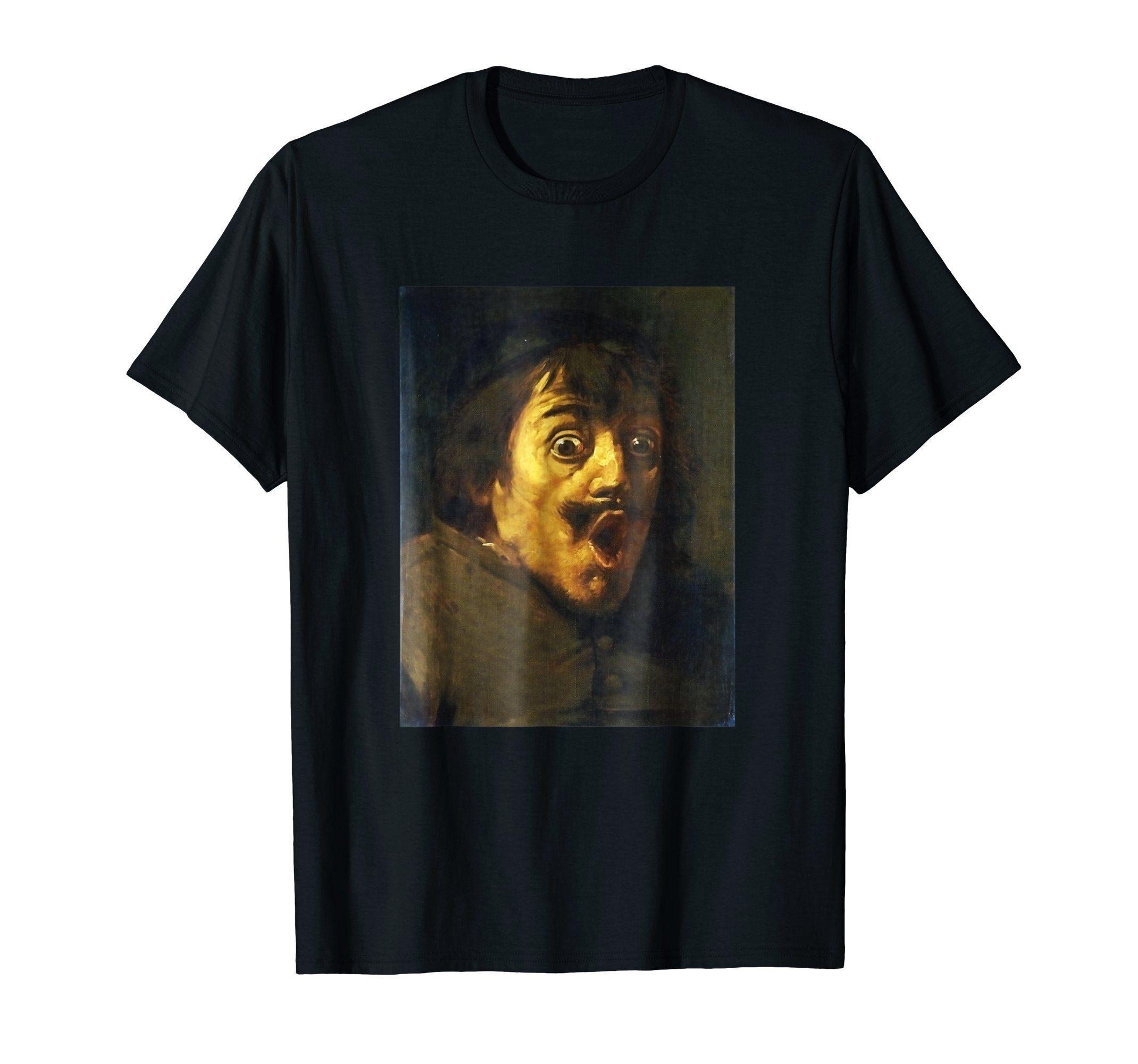 Amazon Com A Man Surprised Classical Art Memes T Shirt Clothing Classical Art Memes T Shirt Art Memes