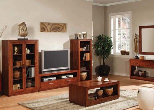 Modelos de muebles r sticos de madera manualidades y for Modelos de muebles de salon