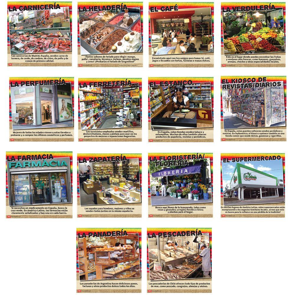 Mercados hispanos Bulletin Board Set Teacher's Discovery
