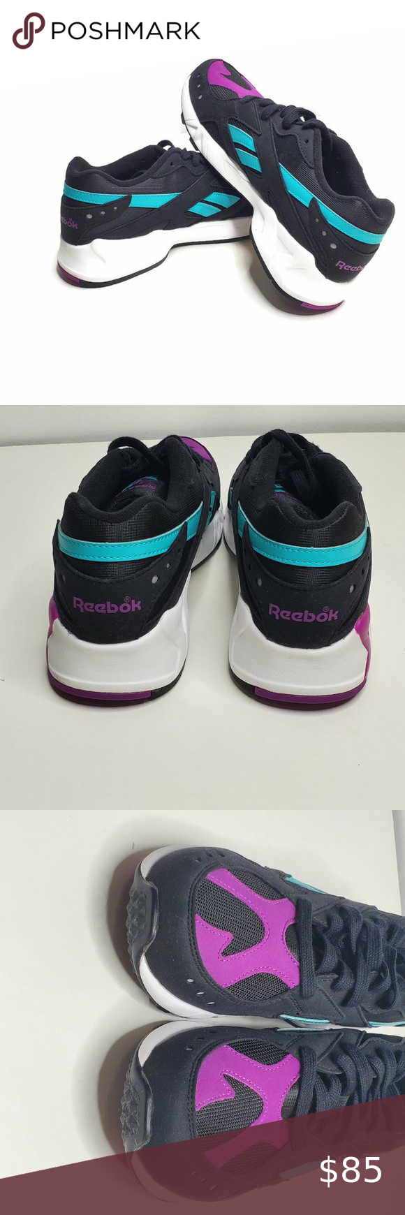 Llevar Espacioso junio  Reebok Aztrek Mens Sneakers Purple Teal Black Sz 7 in 2020 | Sneakers men,  Sneakers, Purple teal