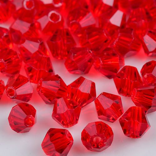 100//300//600Pcs Crystal charm Bicone loose spacer 4mm glass beads,orange