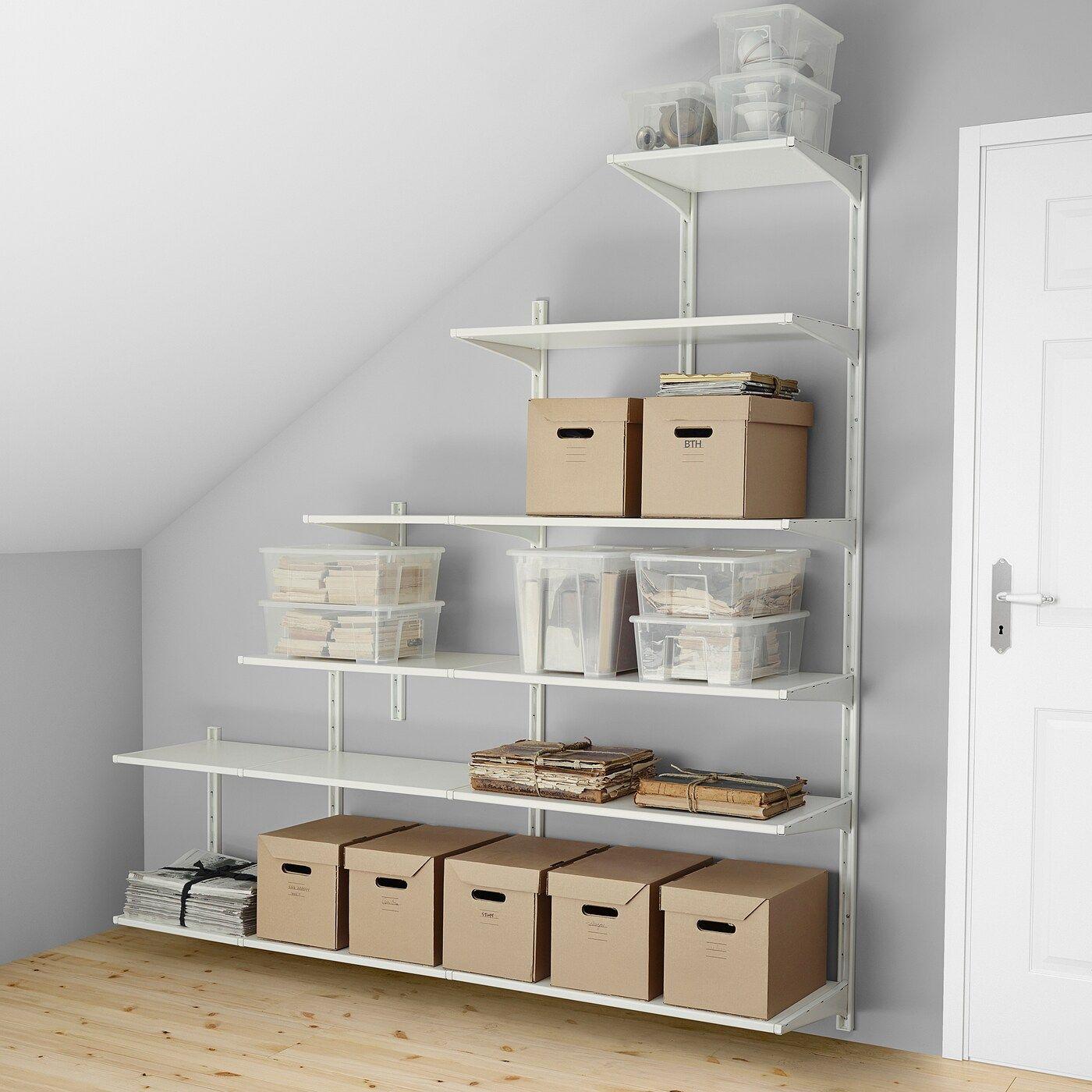 Algot Wandschiene Boden Weiss In 2020 Ikea Algot Wandschiene Und