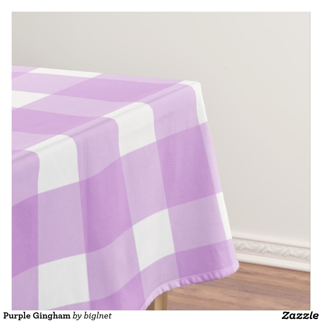 Purple Gingham Tablecloth