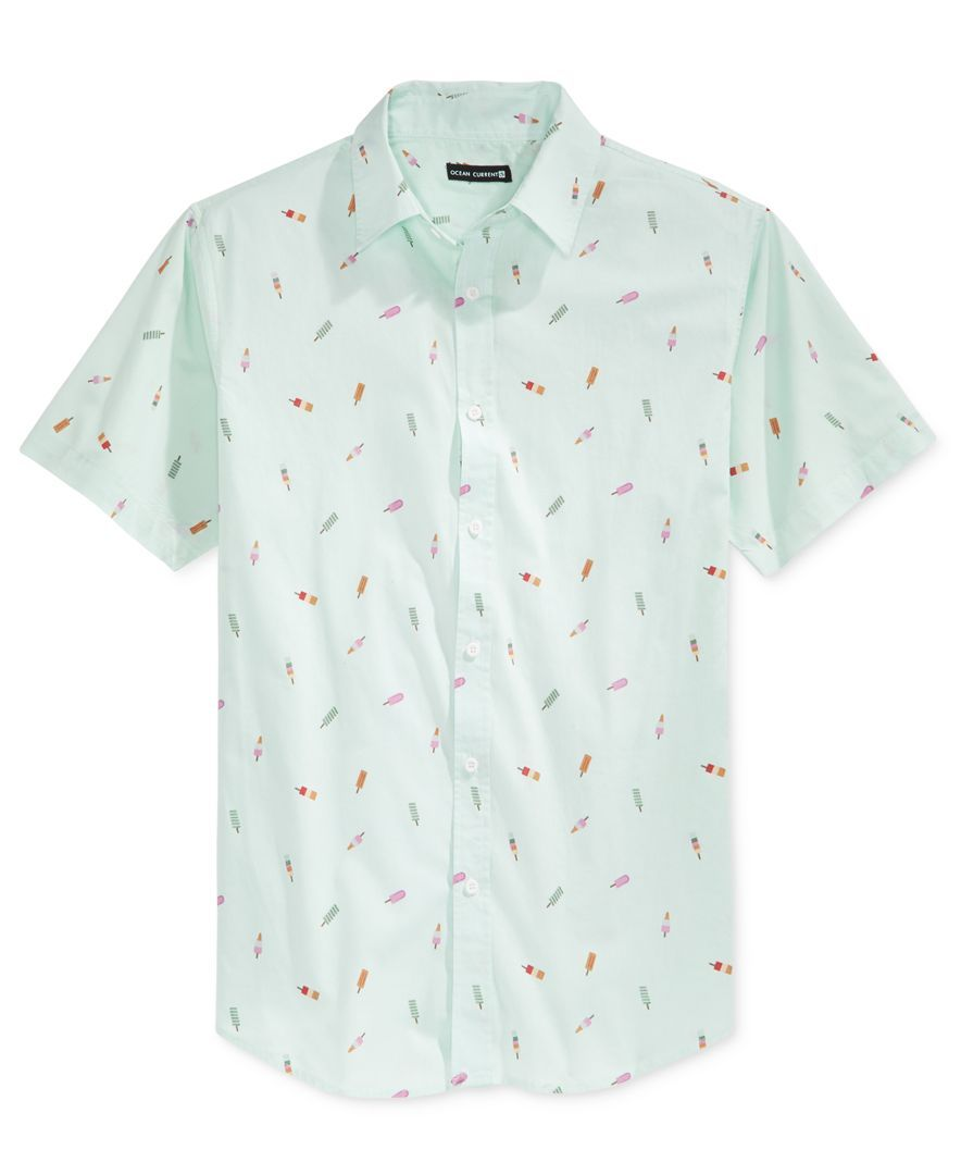 Ocean Current Men's Push Pop Print Short-Sleeve Shirt | Shirts ...