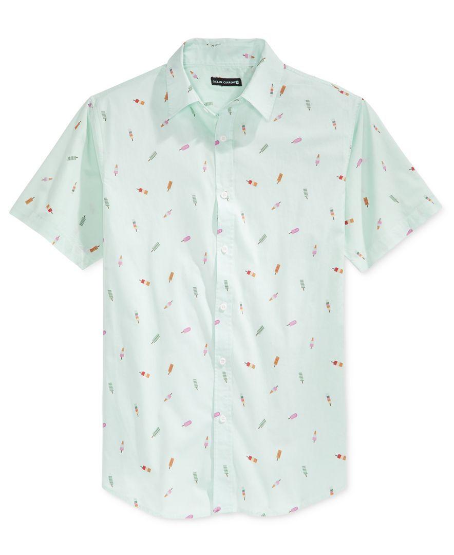 Ocean Current Men S Push Pop Print Short Sleeve Shirt