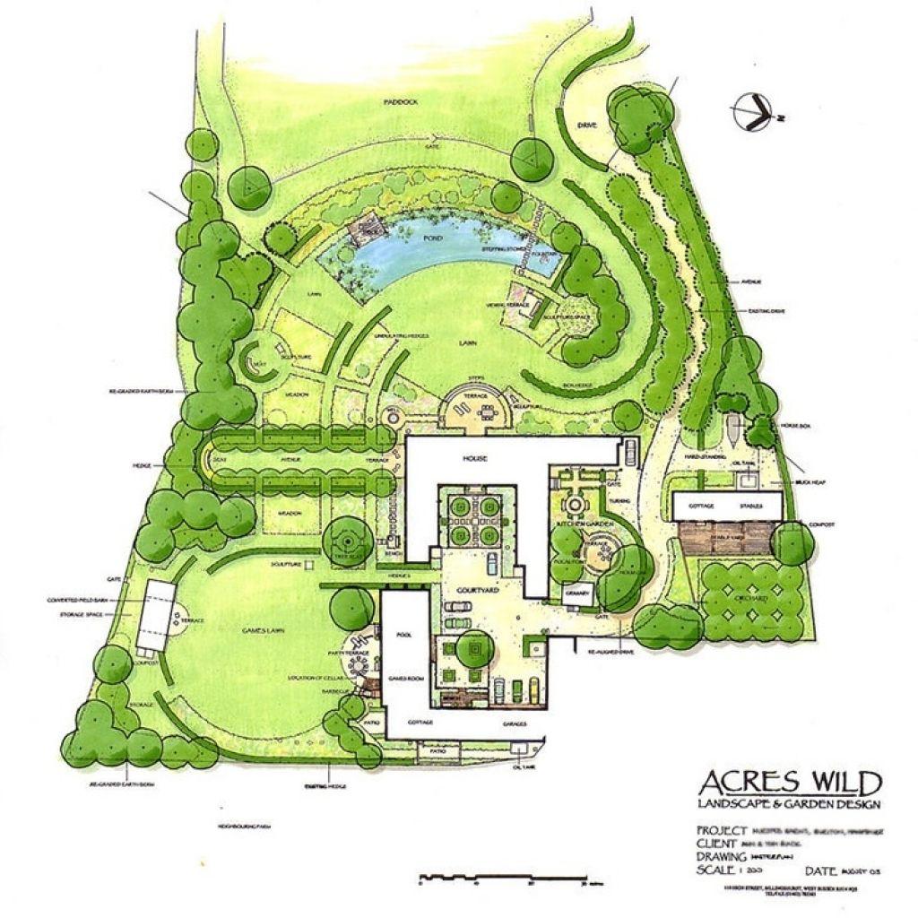 Image result for 1 acre garden design | Landscape plans ...