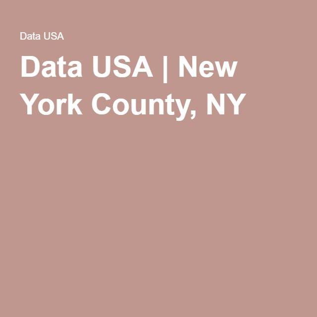 Data USA | New York County, NY