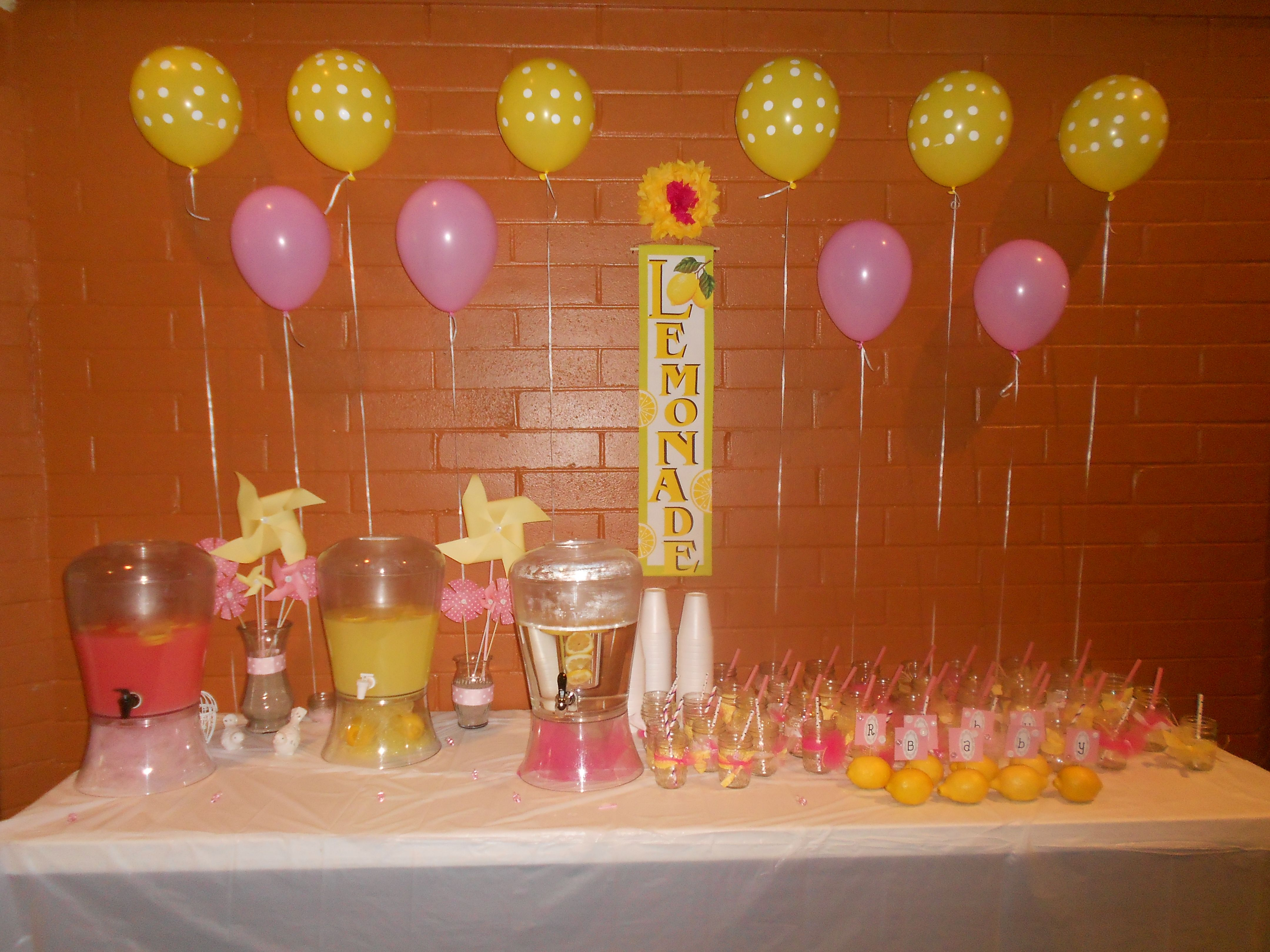 Pink Lemonade Baby Shower Ideas Archidev