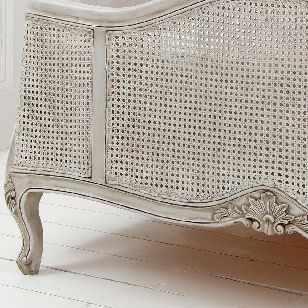 French Grey Painted Rattan Bed Rattan Bed Grey Painted Furniture Rattan Bed Frame
