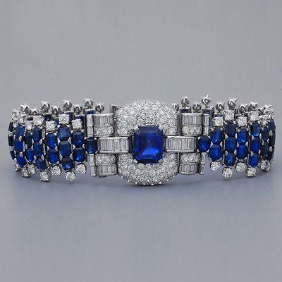 Art Deco Ceylon Sapphire Bracelet, 1920's