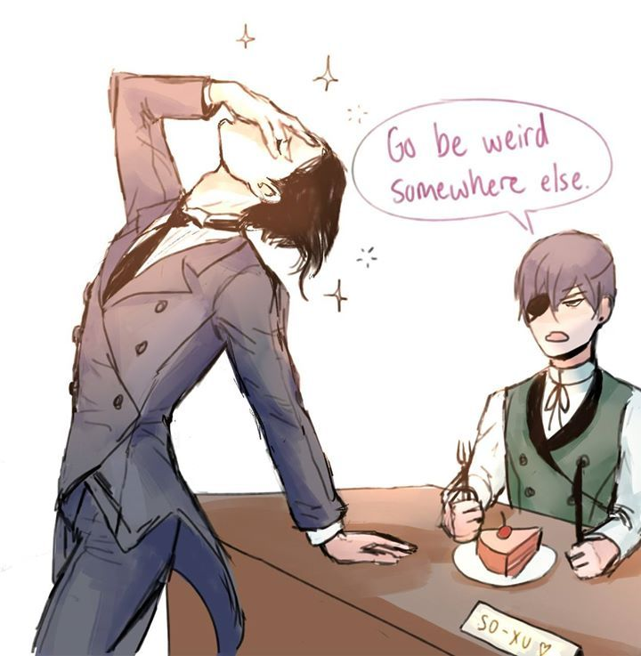 Sebastian Being Weird Funny Black Butler Fanart Black Butler