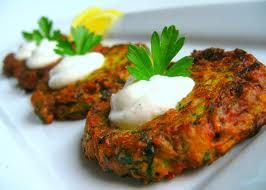 Blonde Bellezza: Day 3: One Week No Meat Challenge: Zucchini Pancakes-can leave off sour cream.