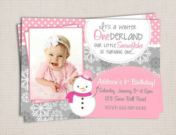 10+ images about Winter ONEderland Birthday Invitations on ...