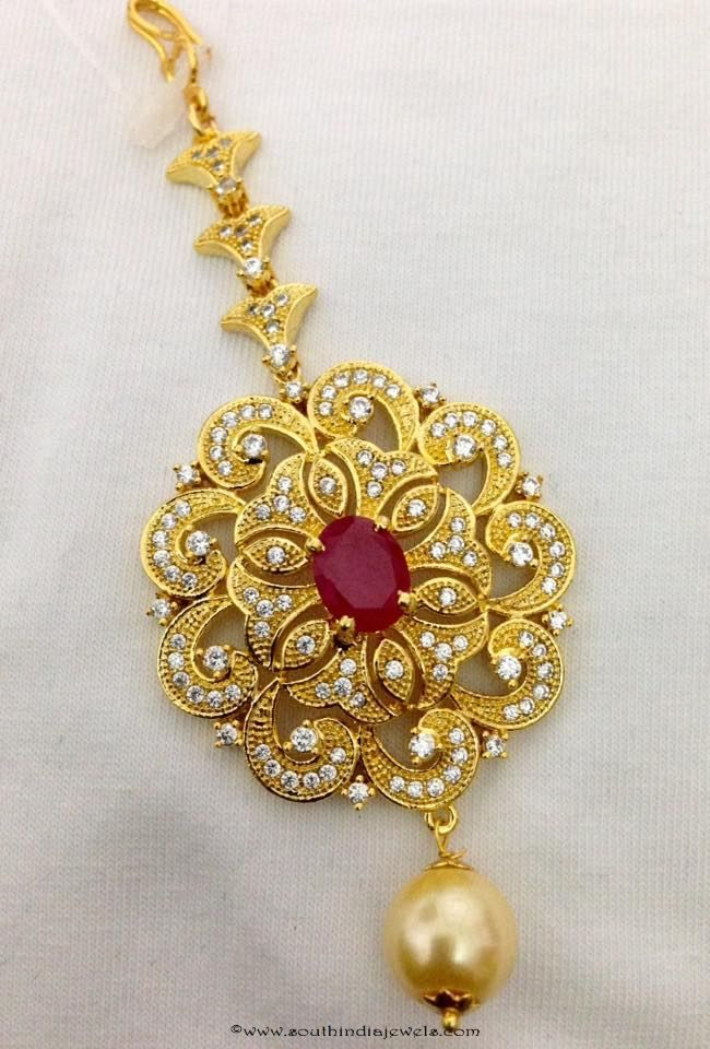 Yellow Stone Bridal Maang Tikka Indian Bollywood Hair Accessory Forehead Jewelry Jewelry & Watches