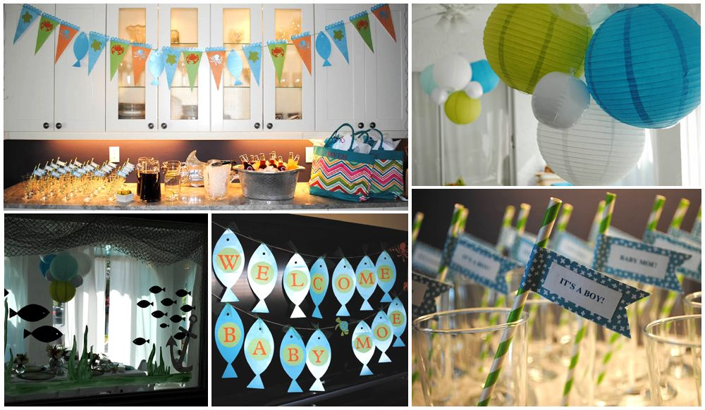 Fish baby shower theme baby shower ideas pinterest for Fishing baby shower