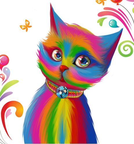 Color Cat By Ryoman On Deviantart Cat Art Cat Colors Cats Illustration