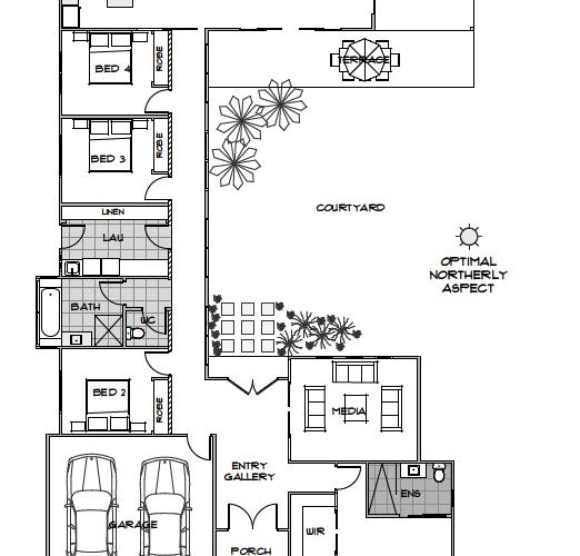 Floor Plan Friday Optimal Northerly Aspect Energy Efficient House Plans House Plans Australia Solar House Plans