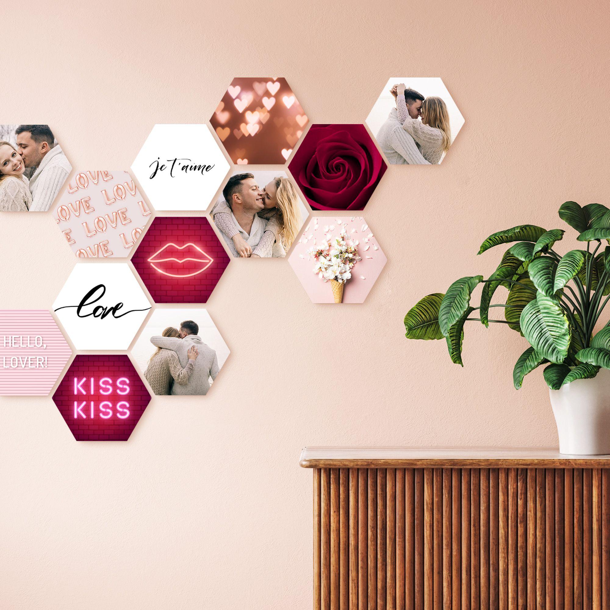 Hexagon CusttomShapes®   Halloleinwand, Fotowand ideen, Fotowand