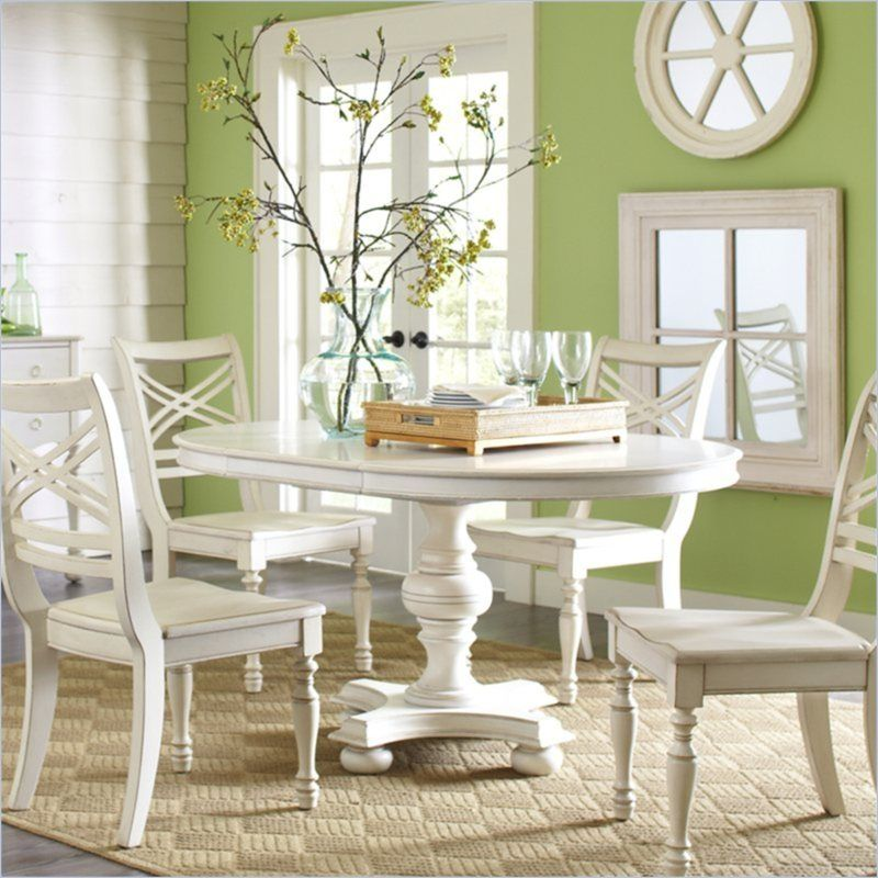 Riverside Furniture Placid Cove 42 Inch Roundoval Dining Table In Gorgeous Oval Dining Room Table And Chairs Inspiration Design