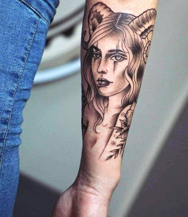 61 Unique and Fiery Aries Tattoos and Meanings 2020