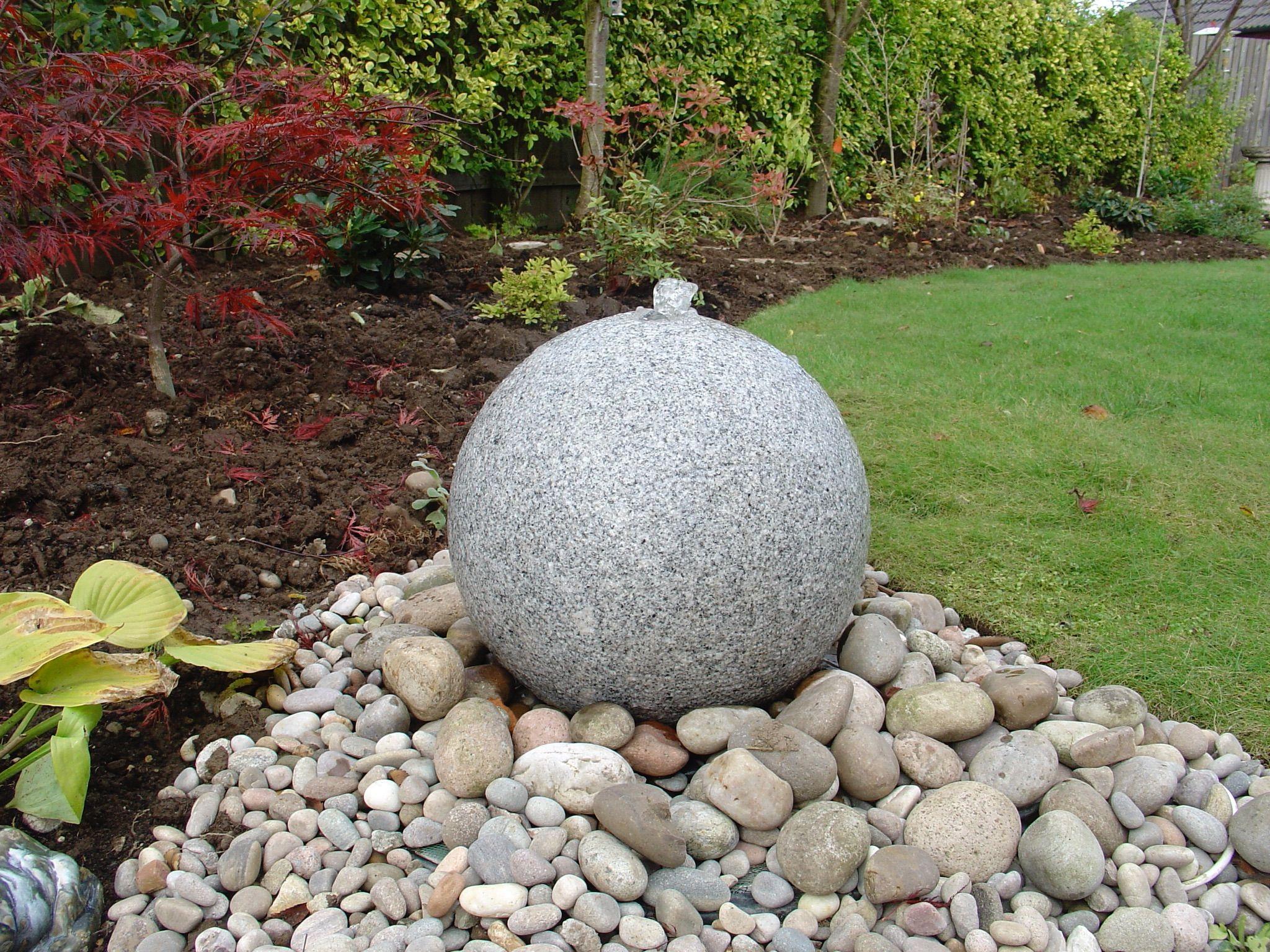 Granite Ball Water Feature In 2020 Garden Design Water Features Water Garden