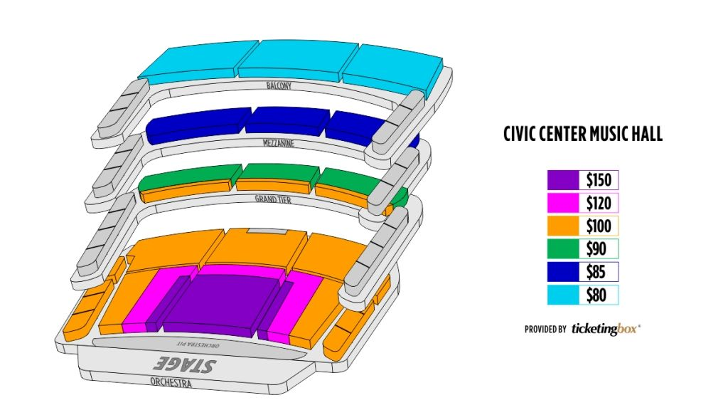 Okc Civic Center Seating Chart Civic Theatre Seating Charts Theater Seating