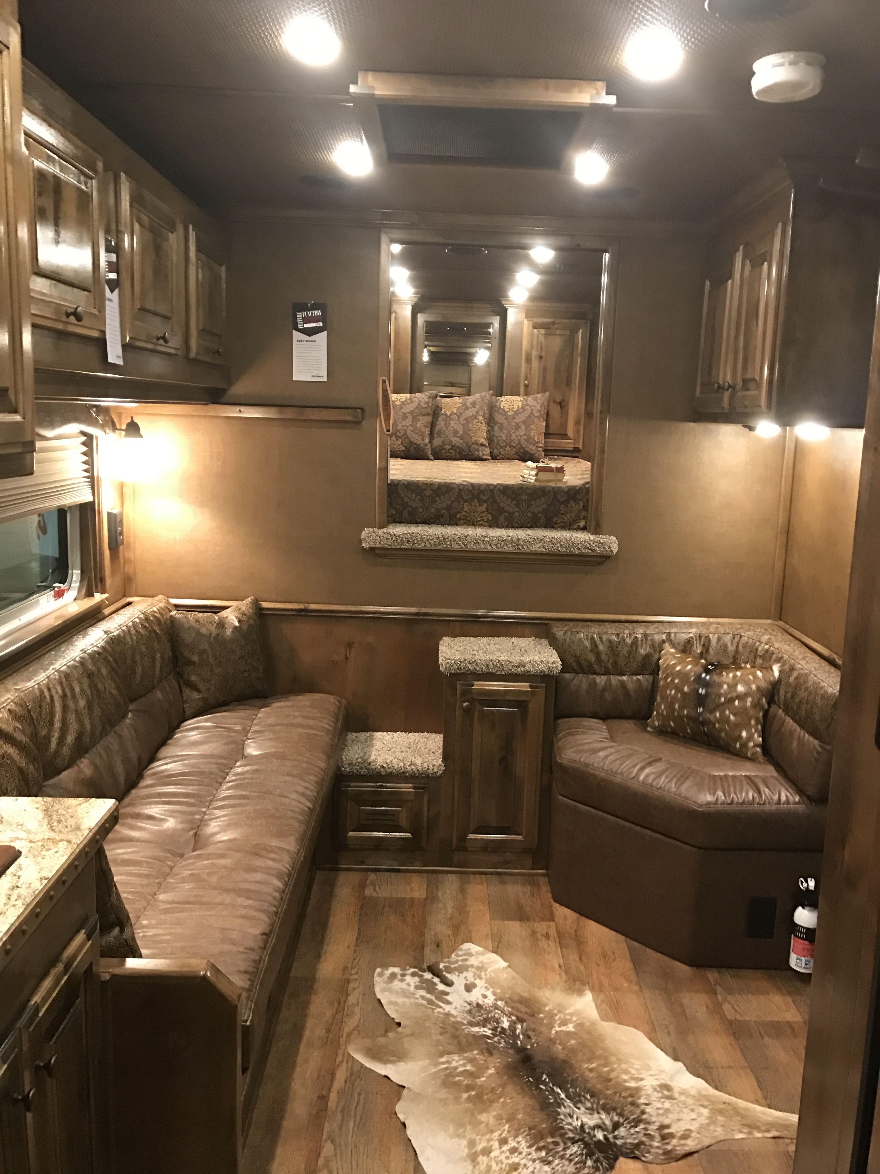 Pin By Quint Willborn On Horse Trailers Horse Trailer Living Quarters Rv Living Room Tiny House Interior Design