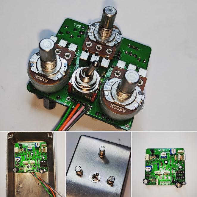 chrome Build your Fuzz Effects Pedal Kits DIY Electric Guitar Stomp Box Kit