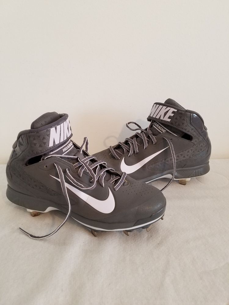 d89d48a7820 NIKE MENS AIR HUARACHE CLEATS SHOES SIZE 8 METAL BASEBALL GREY WHITE SPORTS   fashion  clothing  shoes  accessories  mensshoes  athleticshoes (ebay link)