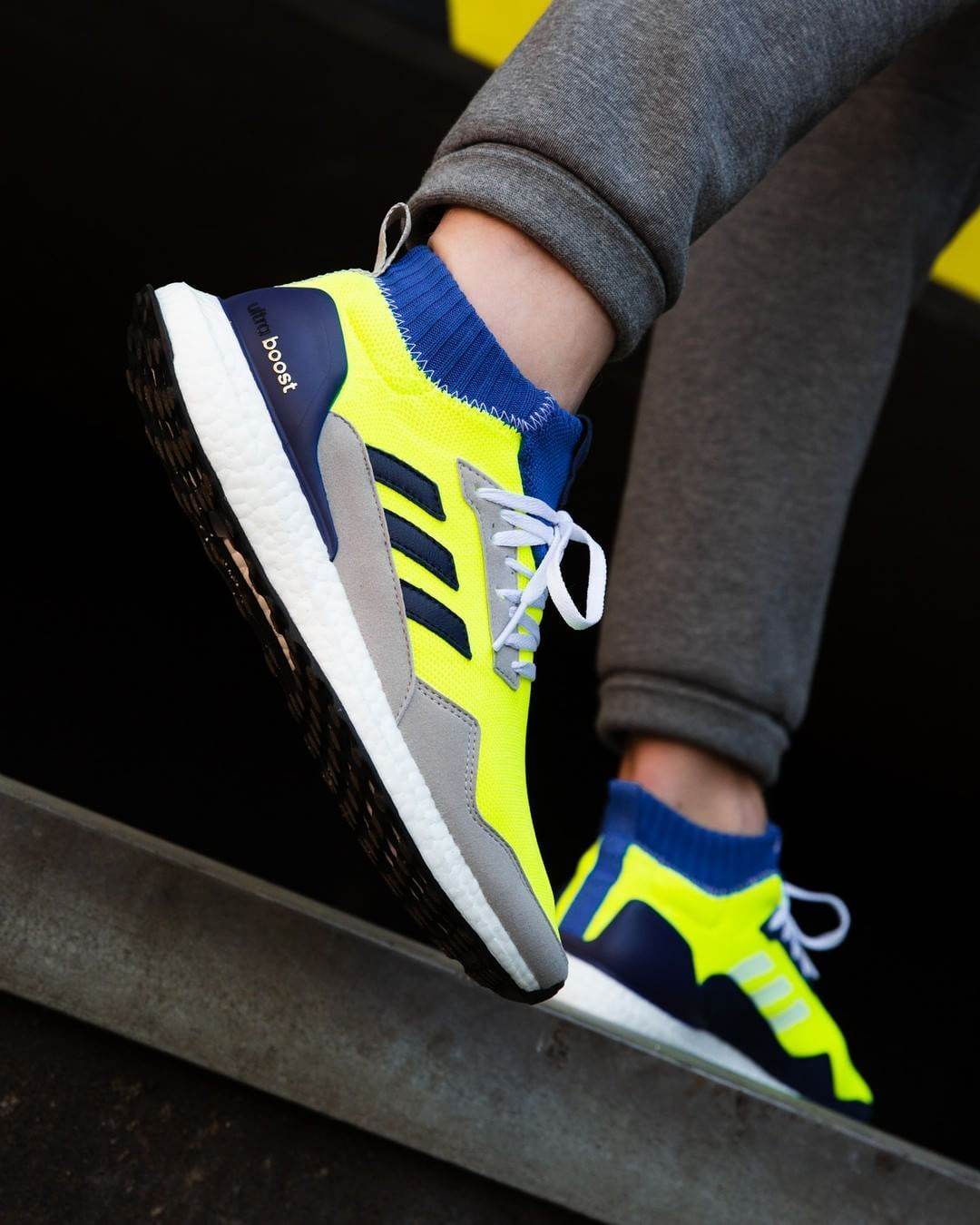 timeless design f3a69 8083c Adidas UltraBOOST MidProto Yellow / Grey / Blue | Things to ...