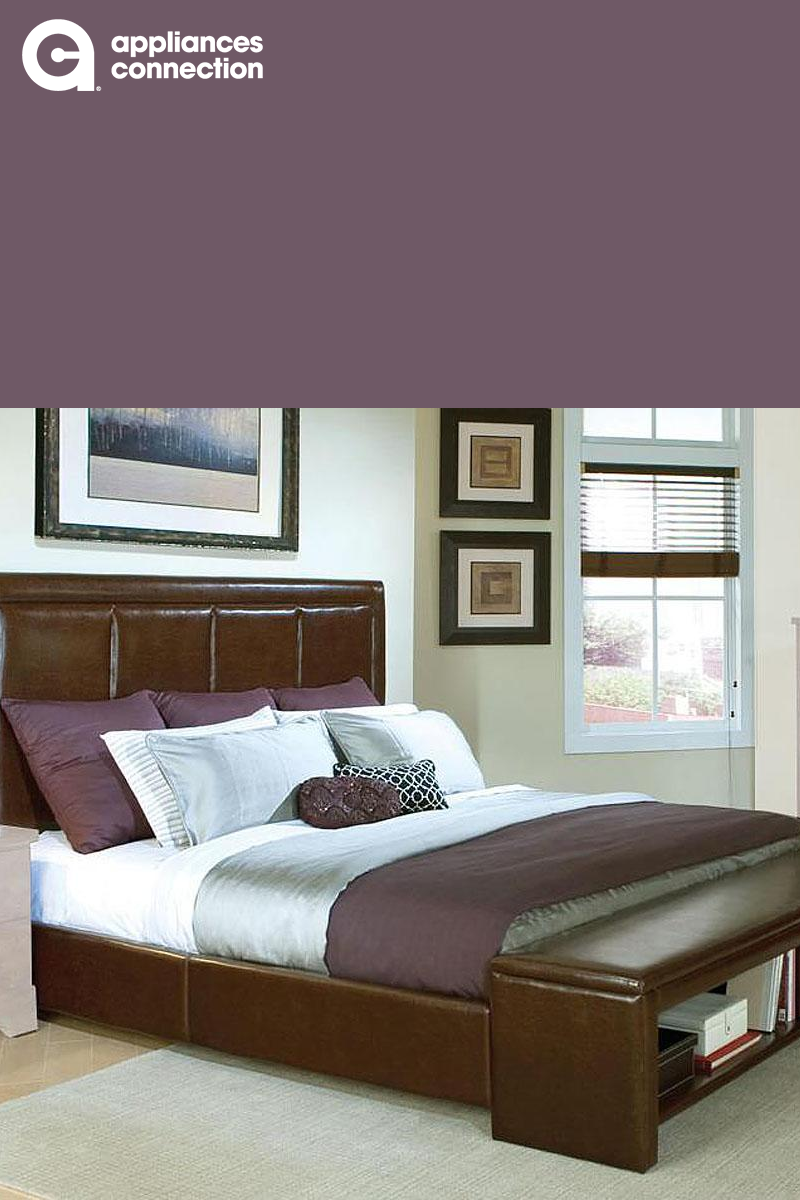 309a8f911610 This striking platform bed will add a sophisticated contemporary accent to  your bedroom. The exquisite padded headboard is upholstered in a lovely  chocolate ...