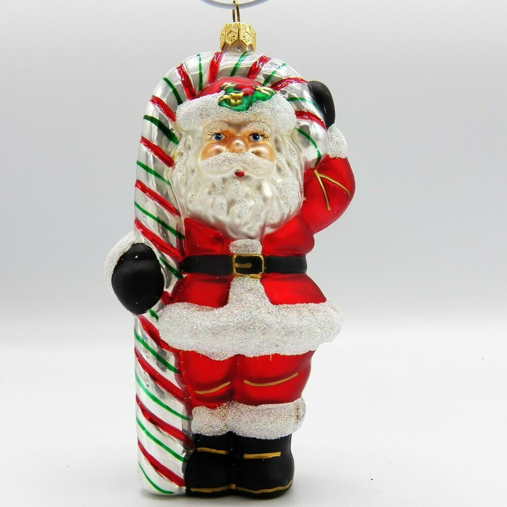 Details about Santa Claus with Candy Cane Christmas ...