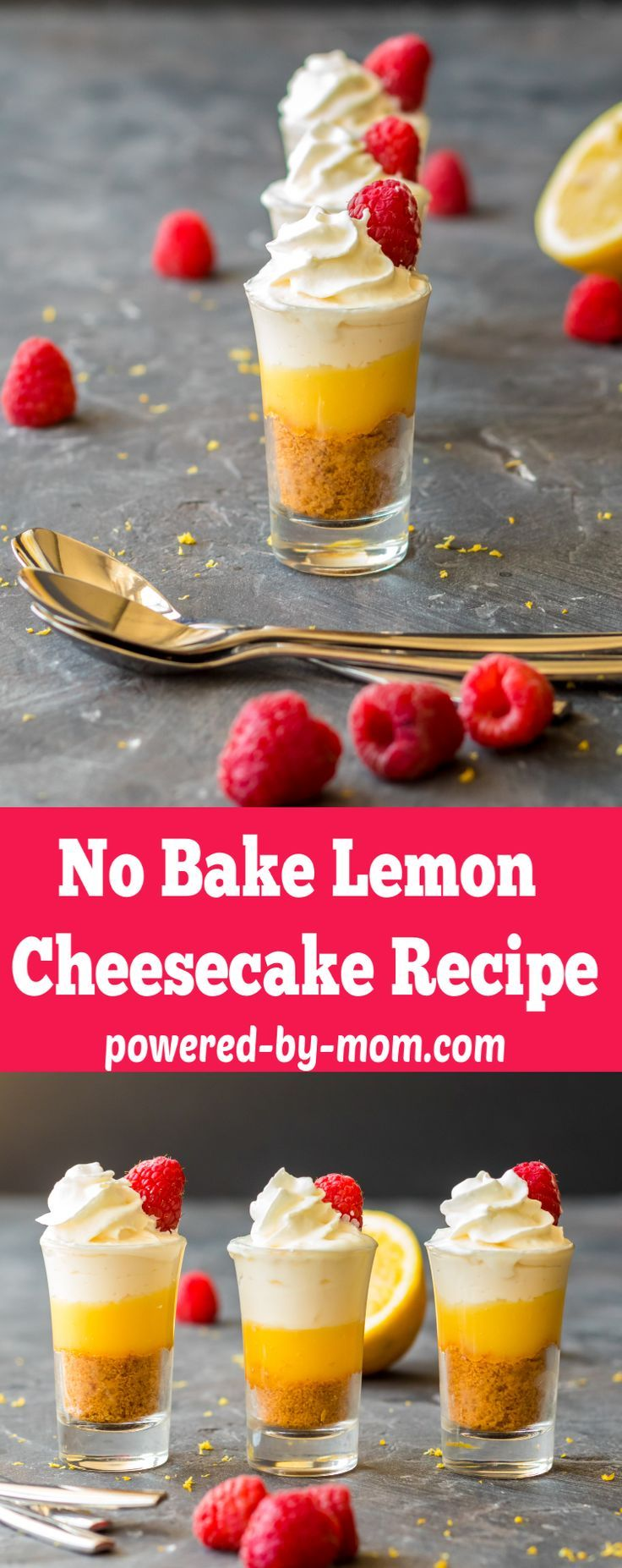 This Mini No Bake Lemon Cheesecake recipe is so easy to make, has just the right amount of tartness and is the perfect treat for spring and summer.