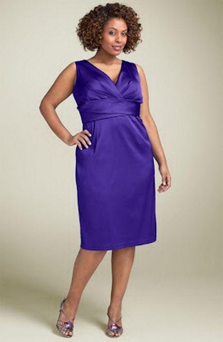 Plus Size Purple Satin Dress