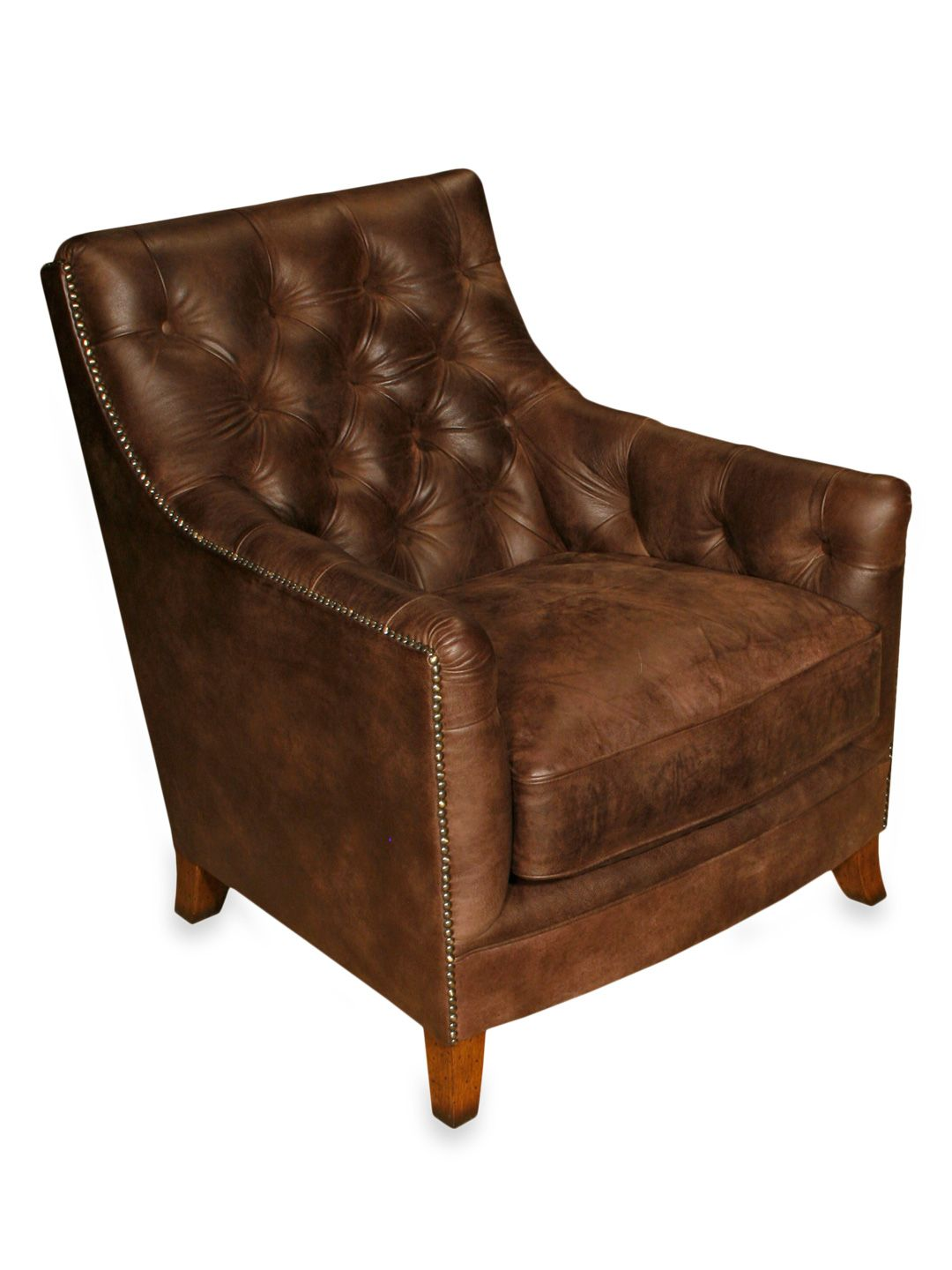 Albany Chair Distressed chair, Chair and ottoman