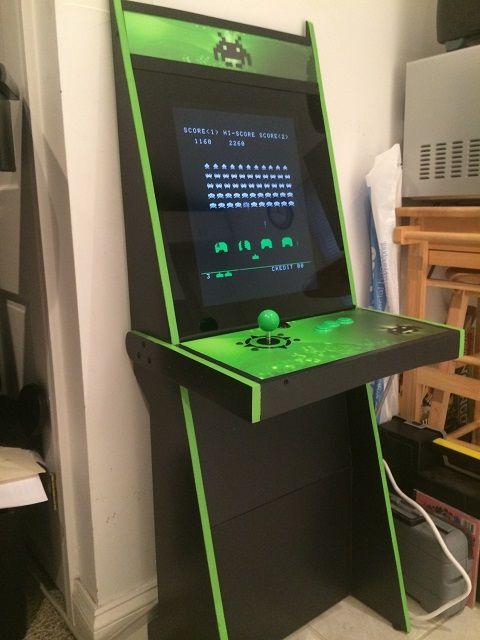 Vigolix Green Invader Cabinet | Woodwork | Pinterest | Arcade