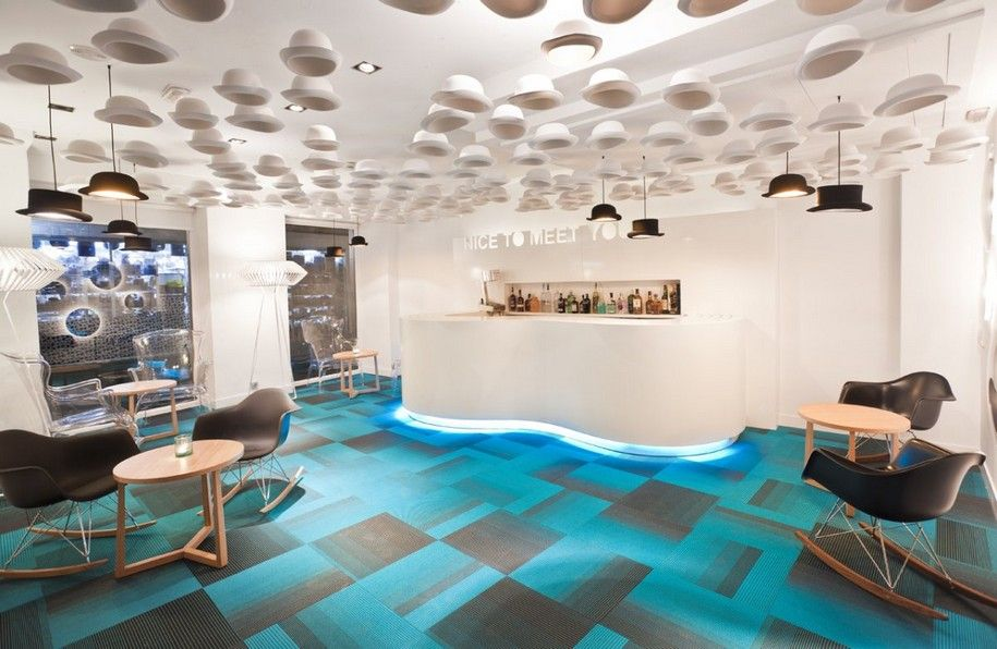 The hotel interior Portago Urban in Spain from ILMIODESIGN