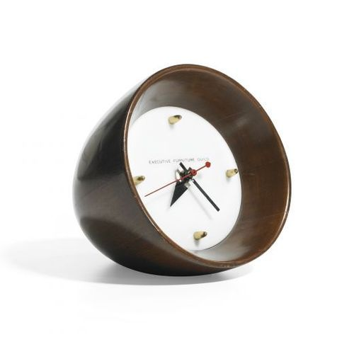 desk clock by george nelson mcm mid century modern pinterest standuhren. Black Bedroom Furniture Sets. Home Design Ideas