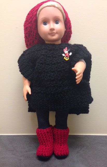 The Mouse Collection: Poncho Hat & Boots by PeanutButterJelliez