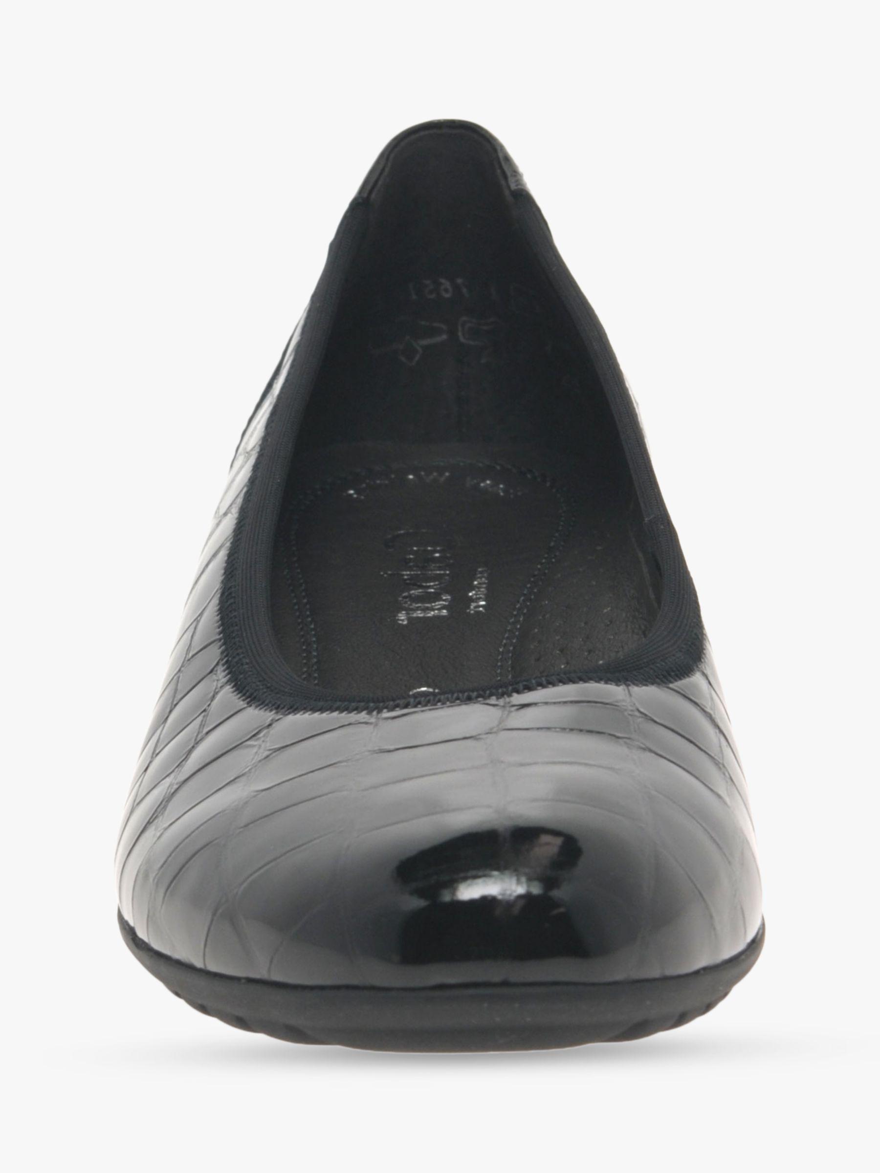 Gabor Splash Wide Fit Patent Leather