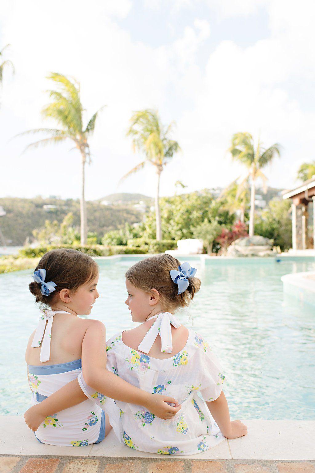 b996d4402c28c Palm Beach Bathing Suit - Biltmore Bouquet Blues with Park City Periwi - The  Beaufort Bonnet Company