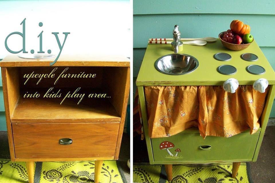Otro Mueble Convertido En Cocina De Juguete La Verdad Es Que Con