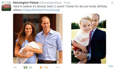 Prince George's second birthday  (July 2015).