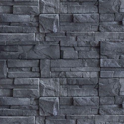 Mex stone fachaleta negra fachaleta decoraci n de for Piedra para muros exteriores precio