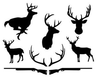 deer hunt svg dxf file instant download silhouette cameo cricut clip art