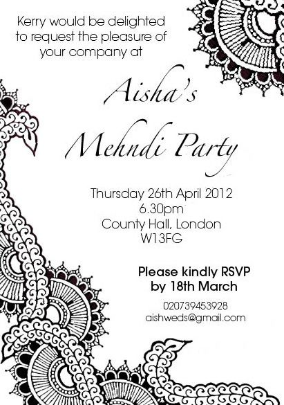 Pin By Barb Wykle On Tattoos Mehndi Party Henna Party Invitations
