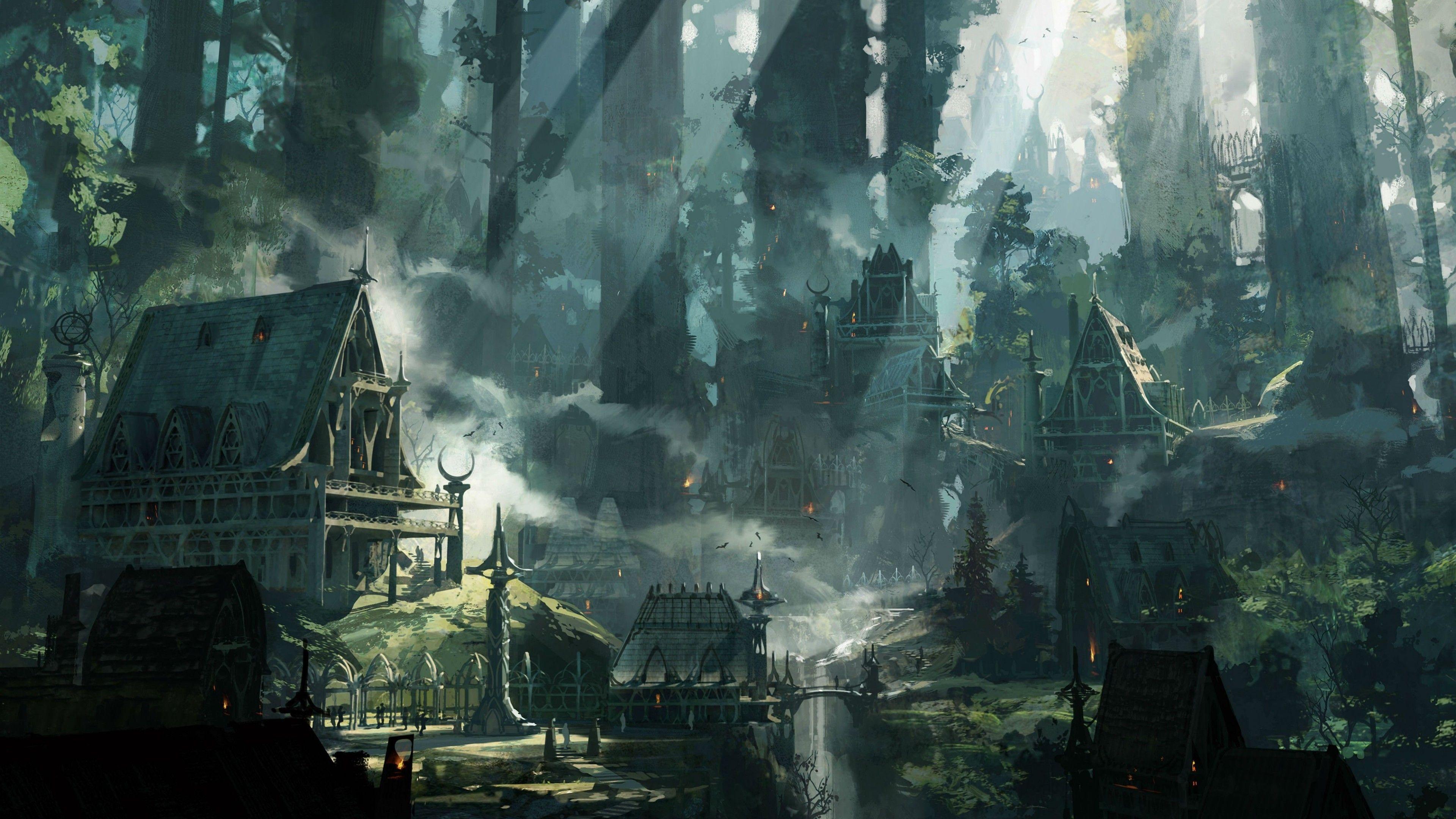 Imgur Art Concept Art Fantasy Village